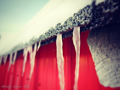 icicles on barn