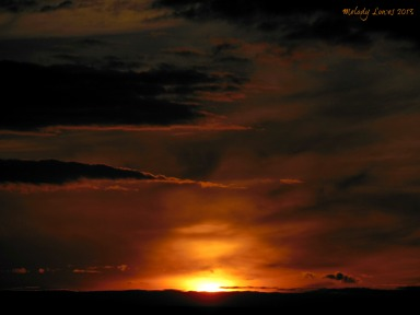Saskatchewan Landing sunset