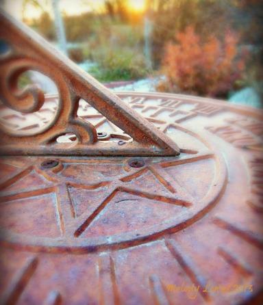 autumn sundial