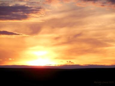 sunset Sask Landing